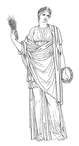 Drawing - Dememter / Ceres by Granger