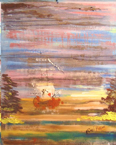 Wall Art - Painting - Demise Of Queen Anne's Revenge by Rich Mason