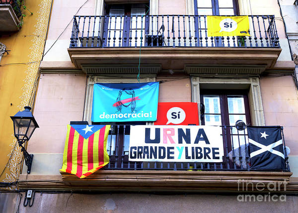 Photograph - Democracia In Barcelona by John Rizzuto