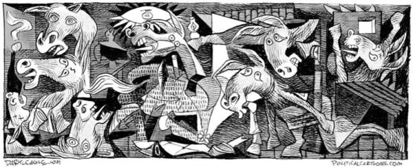 Drawing - Democrat Guernica by Daryl Cagle