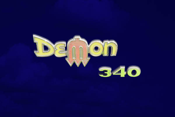 Demon Photograph - Demon 340 Emblem by Mike McGlothlen