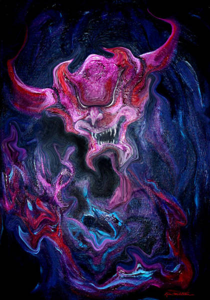 Painting - Demon Fire by Kevin Middleton