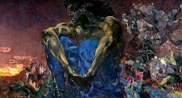 Painting - Demon  by Mikhail Vrubel