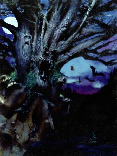Digital Art - Demon Moon by Jesse Bilyeu