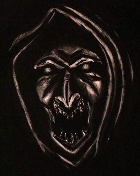 Demonic Drawing - Demon by Tisha Beedle