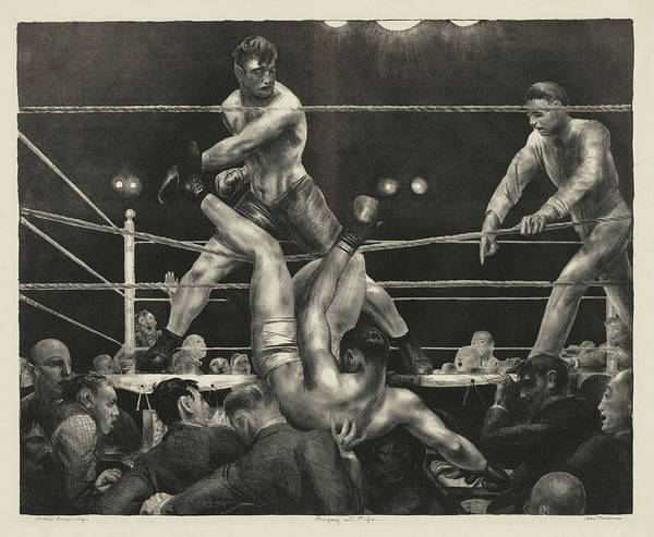 Boxing Painting - Dempsey And Firpo, 1924 by George Bellows