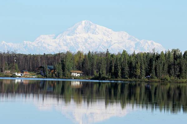 Photograph - Denali From Kashwitna Lake by Steve Wolfe