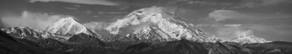 Photograph - Denali Panorama Black And White by Ian Johnson