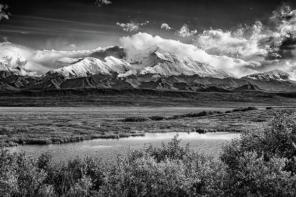 Wall Art - Photograph - Denali, The High One In Black And White by Rick Berk