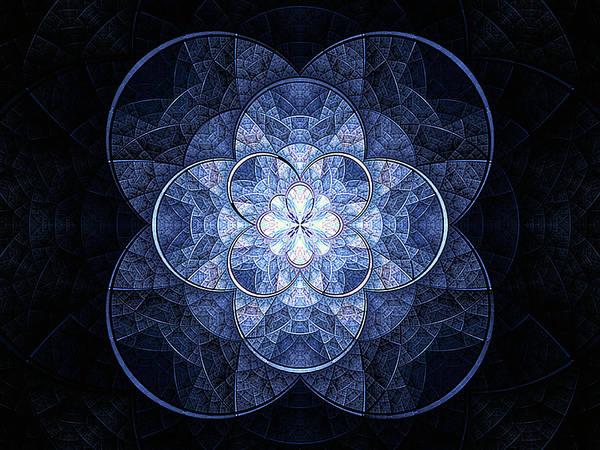 Digital Art - Denim Glitz by Barbara A Lane