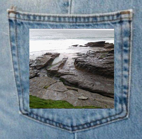 Photograph - Denim Pocket Places Trebarwith Cornwall by Julia Woodman