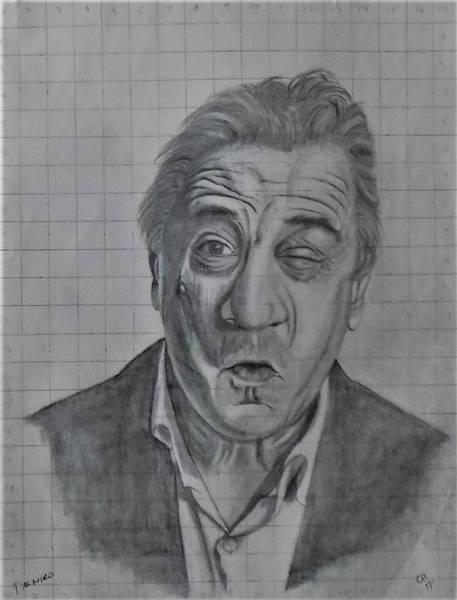 Drawing - Deniro by Chuck Caputo