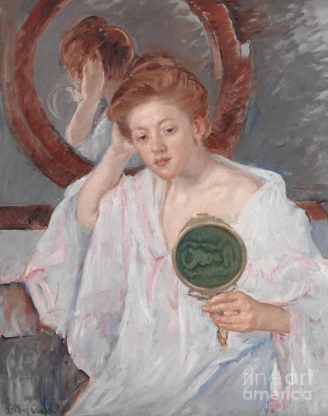 Cassatt Painting - Denise At Her Dressing Table by Mary Stevenson Cassatt