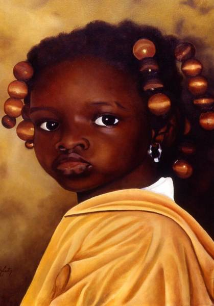 Ghana Painting - Denise-ghana by Daniela Easter
