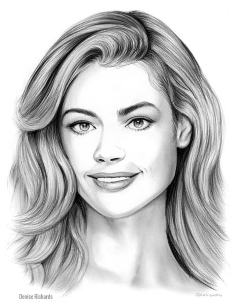 Actress Drawing - Denise Richards by Greg Joens