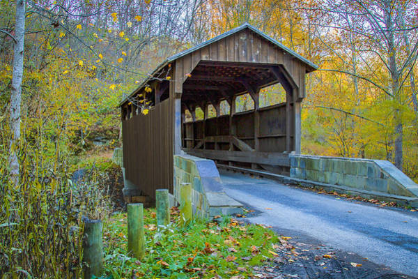 Photograph - Denmar Or Locust Creek Covered Bridge by Jack R Perry