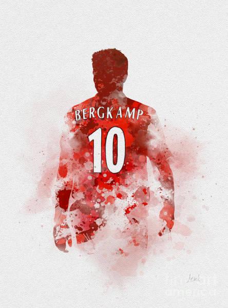 Wall Art - Mixed Media - Dennis Bergkamp by My Inspiration