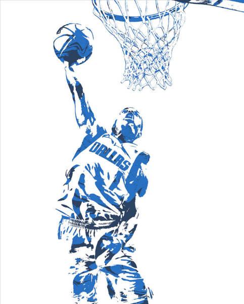 Mavericks Mixed Media - Dennis Smith Jr Dallas Mavericks Pixel Art 1 by Joe Hamilton