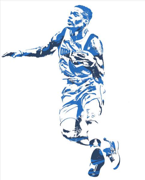 Mavericks Mixed Media - Dennis Smith Jr Dallas Mavericks Pixel Art 2 by Joe Hamilton