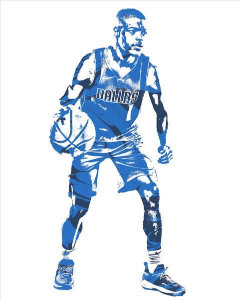 Mavericks Mixed Media - Dennis Smith Jr Dallas Mavericks Pixel Art 5 by Joe Hamilton