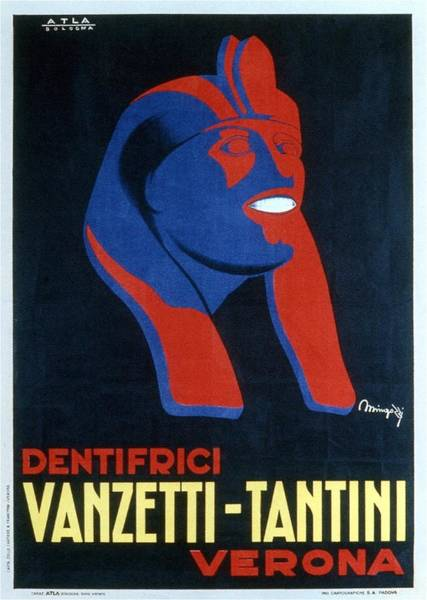 Statue Mixed Media - Dentifrici Vanzetti-tantini - Verona, Italy - Vintage Toothpaste Advertising Poster by Studio Grafiikka