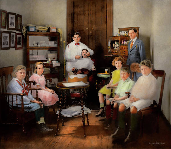Photograph - Dentist - The Family Practice 1921 by Mike Savad