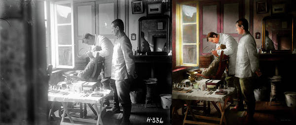 Photograph - Dentist - The Horrors Of War 1917 - Side By Side by Mike Savad