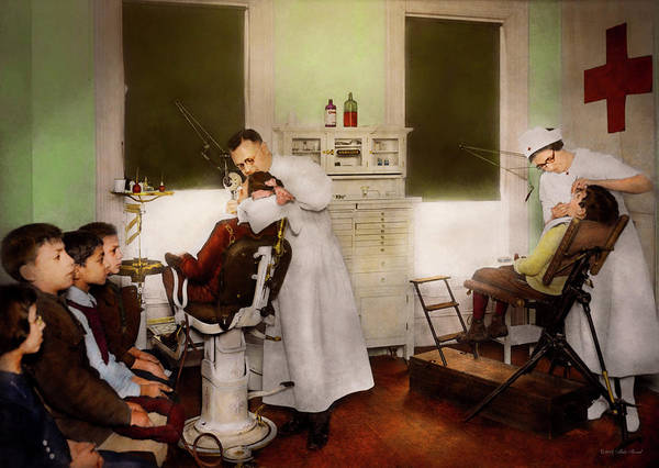 Photograph - Dentist - Treating Them Like Children 1922 by Mike Savad