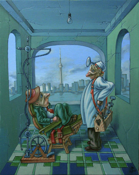 Painting - Dentist by Victor Molev