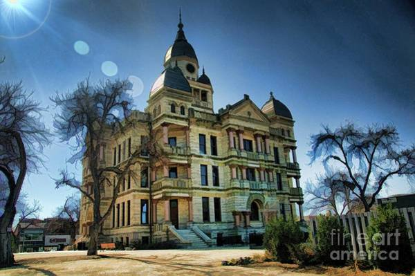 Photograph - Denton Courthouse by Diana Mary Sharpton