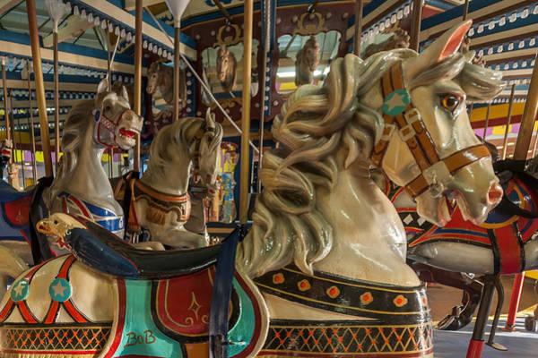 Photograph - Dentzel Looff Carousel Horse Bob Seaside Nj by Terry DeLuco