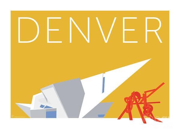 Digital Art - Denver Art Museum/gold by Sam Brennan