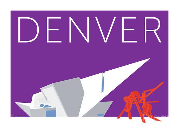 Digital Art - Denver Art Museum/purple by Sam Brennan