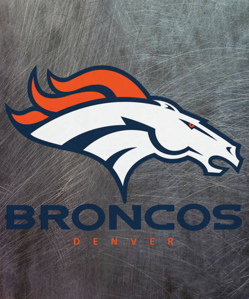Mixed Media - Denver Broncos On An Abraded Steel Texture by Movie Poster Prints