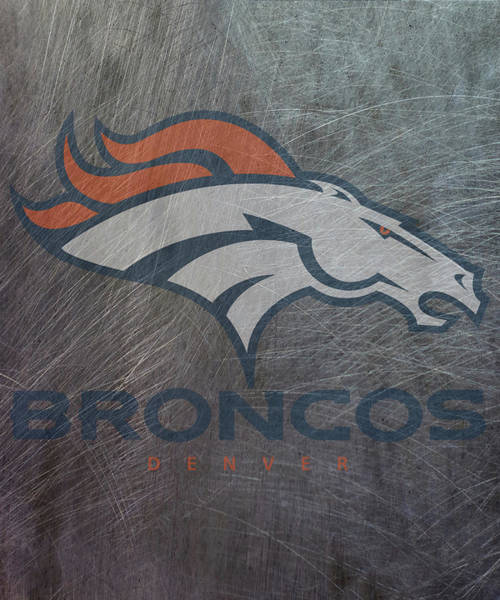 Mixed Media - Denver Broncos Translucent Steel by Movie Poster Prints