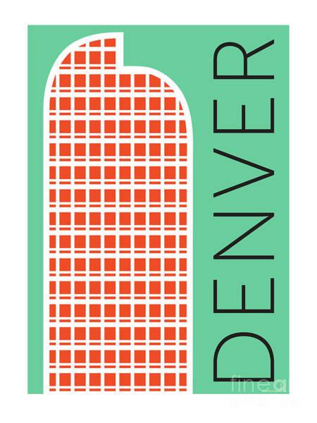 Digital Art - Denver Cash Register Bldg/aqua by Sam Brennan
