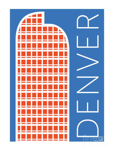 Digital Art - Denver Cash Register Bldg/blue by Sam Brennan