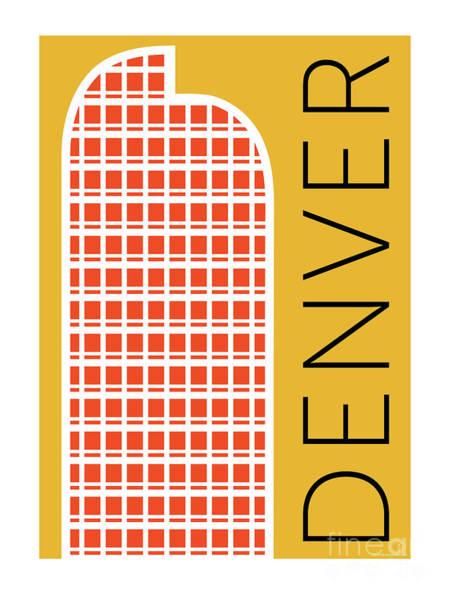 Digital Art - Denver Cash Register Bldg/gold by Sam Brennan