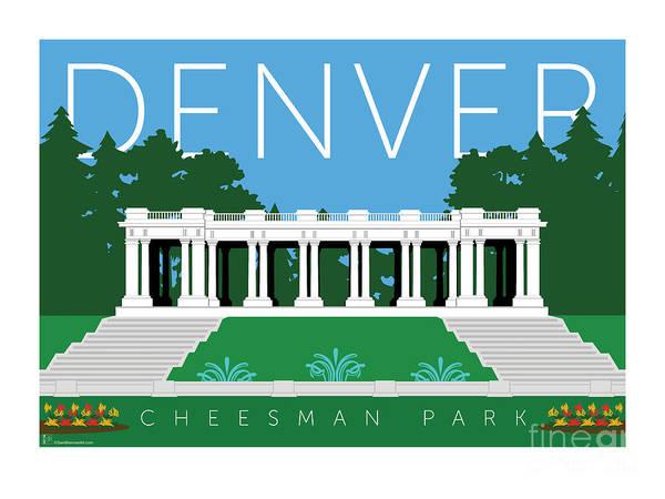 Digital Art - Denver Cheesman Park by Sam Brennan