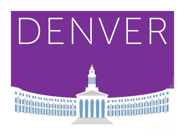 Digital Art - Denver City And County Bldg/purple by Sam Brennan