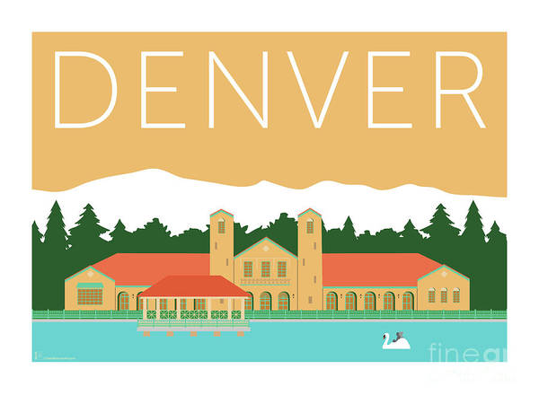 Digital Art - Denver City Park/adobe by Sam Brennan