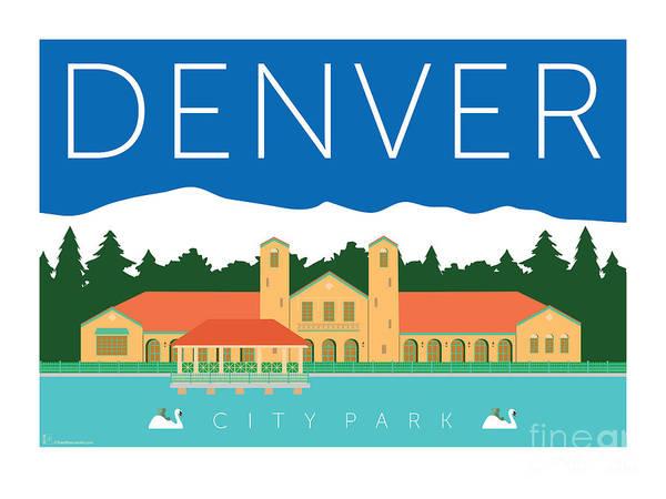 Digital Art - Denver City Park by Sam Brennan