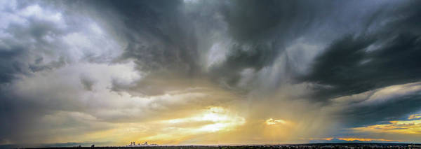 Photograph - Denver Cityscape Stormscape 011 by NebraskaSC