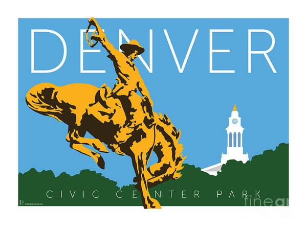 Digital Art - Denver Civic Center Park by Sam Brennan