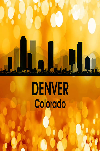 Digital Art - Denver Co 3 Vertical by Angelina Tamez