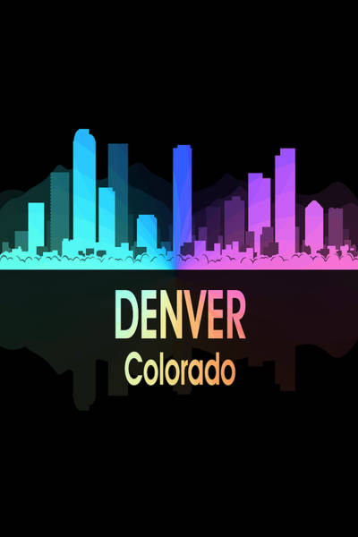 Wall Art - Digital Art - Denver Co 5 Vertical by Angelina Tamez