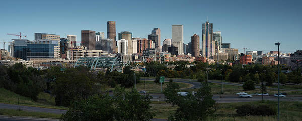 Mile High City Photograph - Denver Co Skyline by Steve Gadomski