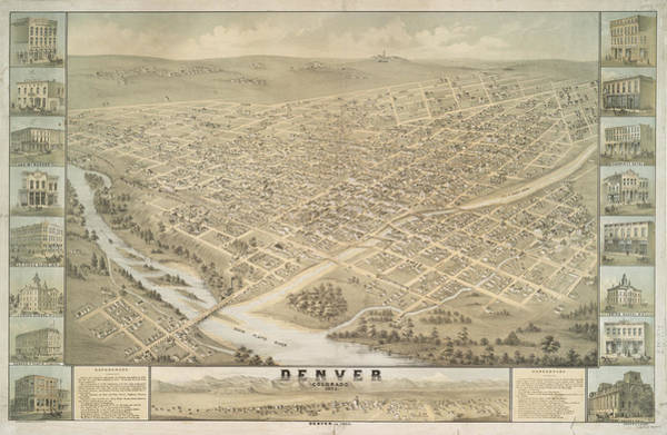 Mile High City Photograph - Denver Colorado 1874 by Ricky Barnard