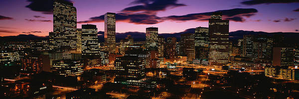 State Of Colorado Photograph - Denver, Colorado Skyline At Dusk by Panoramic Images