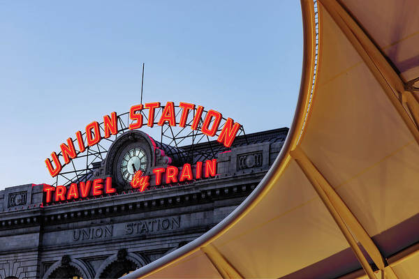 Photograph - Denver Colorado Union Train Station by Gregory Ballos